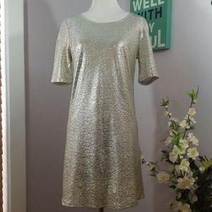 Angie Foil Crinkle Dress